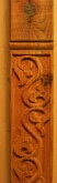 Carved post for small Alpine Marian statue Wayside Shrine
