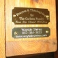Dedication plaque for Wayside Shrines