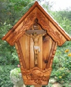 Large Alpine Wayside Shrine with crucifix, Flurkreuz or Wegkreuz