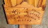 Custom carved prayer plate for Alpine Wayside Shrine