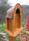 Wayside Shrine for Marian statue with copper roof,  Bildstock, Marterl